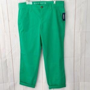 Kelly Green Boyfriend Skinny Chinos Pants